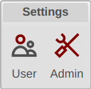 ESM Admin Button
