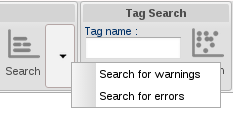 Error and warning searches